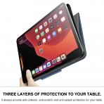Infiland iPad Pro Standlı Kılıf (12.9 inç)(4.Nesil)-Blue