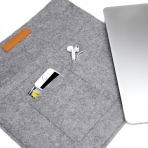Inateck Macbook Air / Macbook Pro Çanta (15.4 inç)-Light Gray