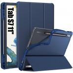 Infiland Galaxy Tab S7 Kalem Bölmeli Kılıf (11 inç)-Navy
