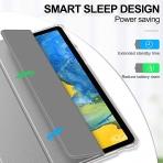 Infiland Galaxy Tab S7 Kalem Bölmeli Kılıf (11 inç)-Gray
