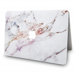 KECC MacBook Air Kapak Kılıf (Retina 13.3 inç)(2018)-White Marble 4