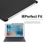 KHOMO iPad Pro Kalem Bölmeli Kılıf (12.9 inç)-Carbon Fiber