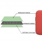 Lacdo MacBook Pro 15 inch Su Geçirmez Çanta-Red