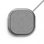 MIPOW POWER XCUBE Deri Kablosuz Şarj Cihazı-Silver