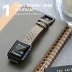 Mifa Apple Watch Deri Kayış (42mm)-Grey