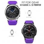 MoKo Samsung Gear S3 Soft Silikon Kayış-Purple