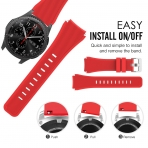 MoKo Samsung Gear S3 Soft Silikon Kayış-Red