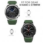 MoKo Samsung Gear S3 Soft Silikon Kayış-Army Green