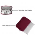 Mosiso Macbook 11 inç Su Geçirmez Çanta-Wine Red