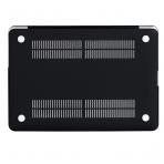 Mosiso Macbook Pro Retina Mermer Desenli Kılıf (15.4 inç)-Black Marble