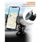 Mpow Araç İçin Telefon Tutucu (Vantuz/Vakumlu)-Black