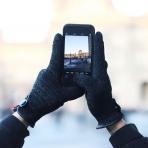 Mujjo Çift Katmanlı Dokunmatik Ekran Eldiveni (Medium)