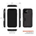 Patchworks Apple iPhone 11 Level Cüzdan Kılıf (MIL-STD-810G)-Black
