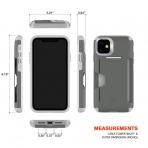 Patchworks Apple iPhone 11 Level Cüzdan Kılıf (MIL-STD-810G)-Gray