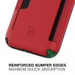 Patchworks Apple iPhone 11 Level Cüzdan Kılıf (MIL-STD-810G)-Red