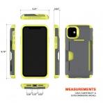 Patchworks Apple iPhone 11 Level Cüzdan Kılıf (MIL-STD-810G)-Volt