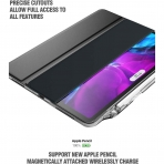Poetic iPad Pro Lumos X Serisi Kalem Bölmeli Kılıf (11 inç)(2.Nesil)-Black