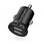 RAVPower İkili USB Mini Araç Şarj Cihazı-Black