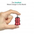 RAVPower İkili USB Mini Araç Şarj Cihazı-Red