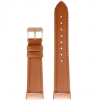 SWEES Fitbit Charge 3 Deri Kayış (Small)-Classic Brown
