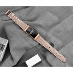 SWEES Fitbit Charge 3 Deri Kayış (Small)-Rose Gold