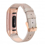 SWEES Fitbit Charge 3 Deri Kayış (Small)-Champagne