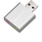 Sabrent Alüminyum USB Stereo Ses Adaptörü (Gümüş)
