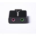 Sabrent Alüminyum USB Stereo Ses Adaptörü (Siyah)