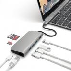 Satechi 4K HDMI (30Hz) Alüminyum Çoklu Adaptör (Gri)