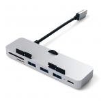 Satechi USB-C Bağlantılı Type-C Hub Adaptör (Silver)