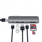 Satechi MacBook Pro 13 ve 15 inç Alüminyum Type-C Pro Hub Adaptör (Space Gray)