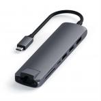 Satechi 7 Bağlantılı USB C Alüminyum Hub Adaptör (Space Gray)