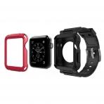 Simpeak Apple Watch Rugged Koruyucu Kılıflı Siyah Kayış (42mm)