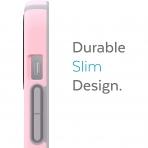 Speck iPhone 13 Pro Max CandyShell Pro Serisi Kılıf (MIL-STD-810G)-Rosy Pink/Cathedral Grey