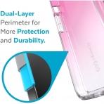 Speck iPhone 13 Pro Max GemShell Serisi Kılıf (MIL-STD-810G)-Fuschia Fade/Clear