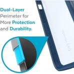 Speck iPhone 13 Pro Max GemShell Serisi Kılıf (MIL-STD-810G)-Glass Navy/Winter Navy