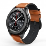 Swees Samsung Gear S3 Deri Kayış-Brown