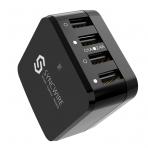 Syncwire 4 Bağlantılı USB Şarj Cihazı (Siyah)
