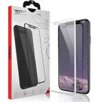 TOZO Apple iPhone X Cam Ekran Koruyucu (Beyaz)