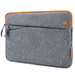 Tomtoc Apple iPad/Samsung Tablet Çantası (10.5 inç)-Gray Orange
