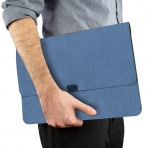 Valkit MacBook Air Deri Kılıf (11 inç)-Blue