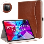 Ztotop iPad Pro Deri Standlı Kılıf (12.9 inç)(4. Nesil)