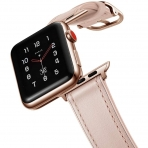 amBand Apple Watch Deri Kayış (38/40mm)-Pink Sand