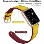 amBand Apple Watch Deri Kayış (38/40mm)-Yellow