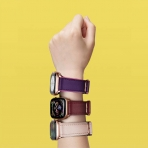 amBand Apple Watch Deri Kayış (38/40mm)-Purple