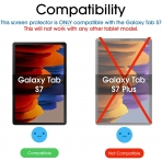 amFilm Galaxy Tab S7 Temperli Cam Ekran Koruyucu (11 inç)(2 Adet)