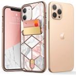 i-Blason Apple iPhone 12 Cosmo Serisi Cüzdan Kılıf