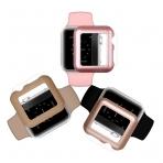 iCASEIT Apple Watch 38 mm Kılıf ve Cam Ekran Koruyucu (3 Adet)