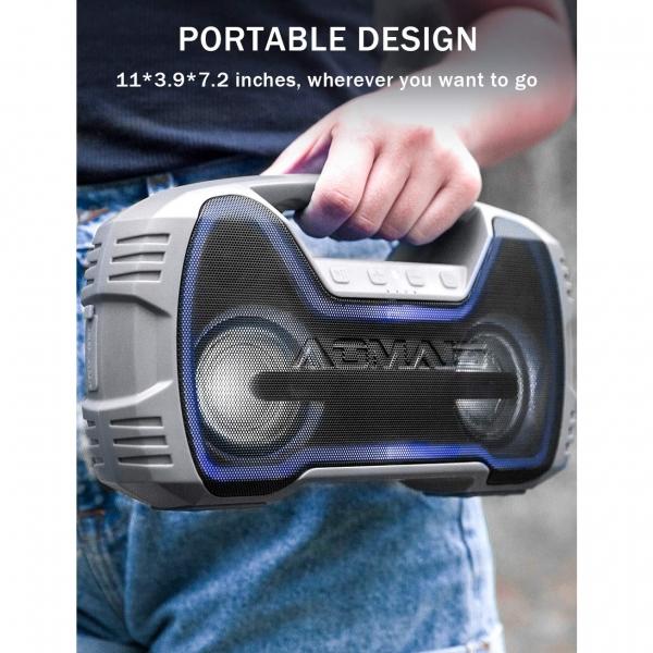 AOMAIS GO Mini Su Geçirmez Bluetooth Hoparlör-Gray