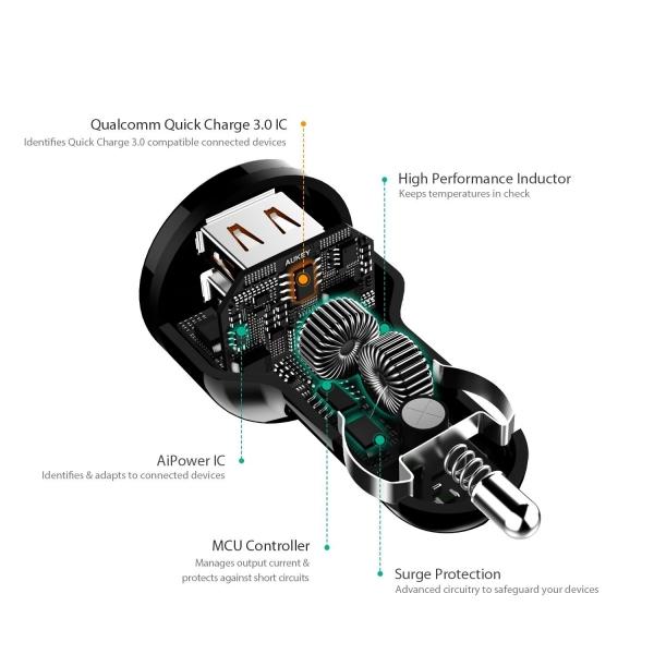 AUKEY CC-T8 3.0 Araç Şarjı